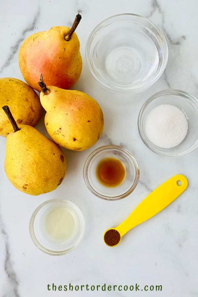 Stewed Pears ingredients