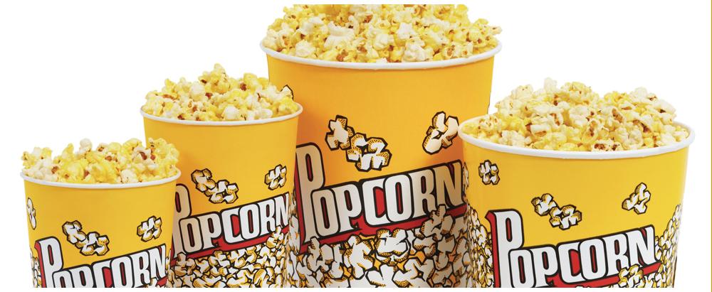 Popcorn in onze kleine beker (100 stuks beschikbaar) voor 1 euroke !