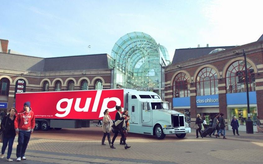 Gulp information truck is making its way round the North West