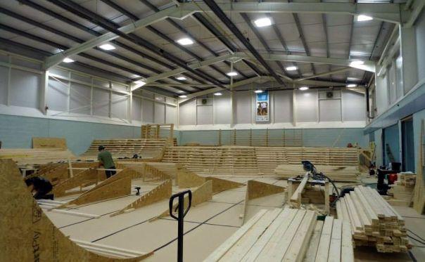 Construction at Junction 4 Skatepark.