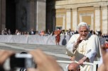 My favourite shot of the Pope I took.