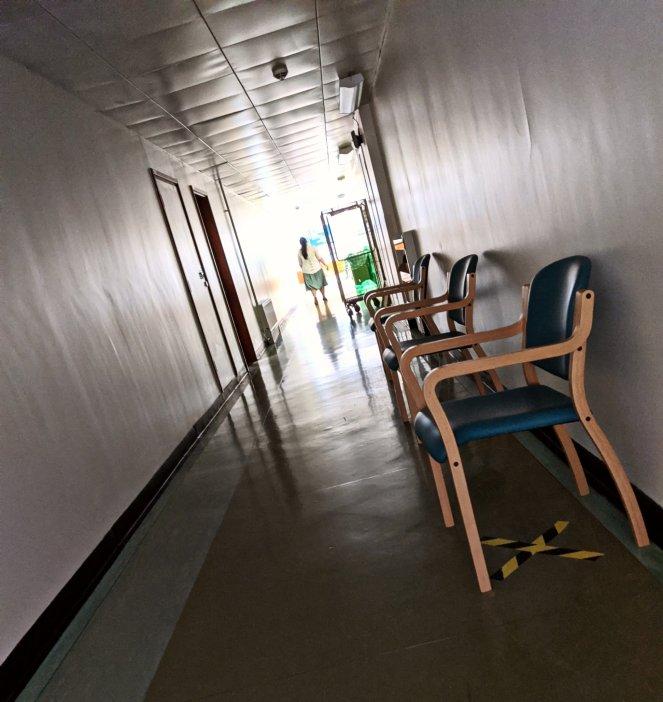photo of hospital corridor during coronavirus lockdown 2020