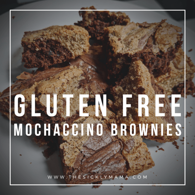 gluten free chocolate cappuccino mochaccino brownies recipe sickly mama blog