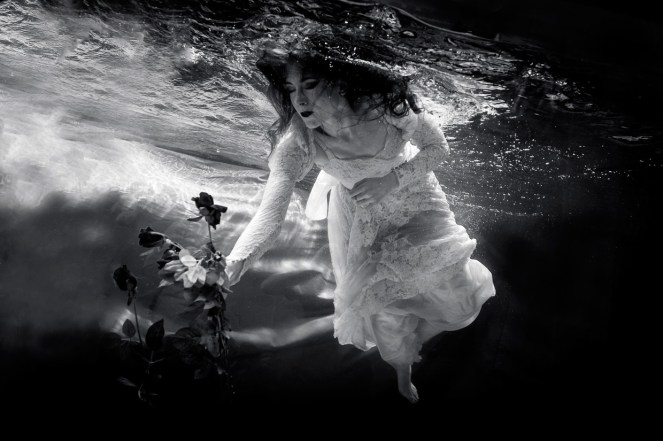 johannes hjorth monochrome bride floating water roses buoyancy the sickly mama blog