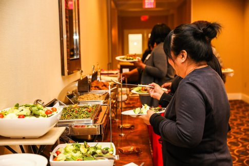 The food was awesome by Sheraton Pentagon City