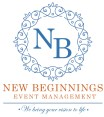 new beginnings event management logo