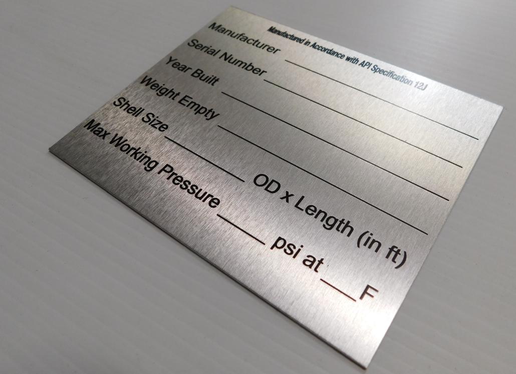 custom engraved metal signs