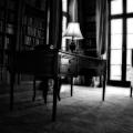 The Mount's library on the first floor. Edith Wharton Estate & Gardens.  Lenox, MA