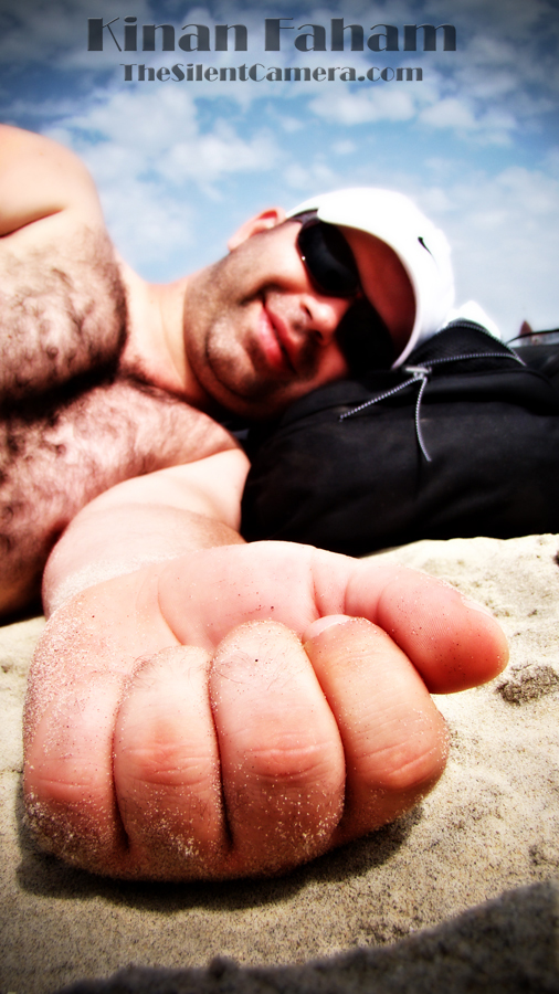 Bilal sun-bathing at Coronado beach in Coronado Island. San Diego, CA