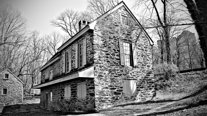 Historic Rittenhouse Homestead on Lincoln Drive in Philadelphia, PA