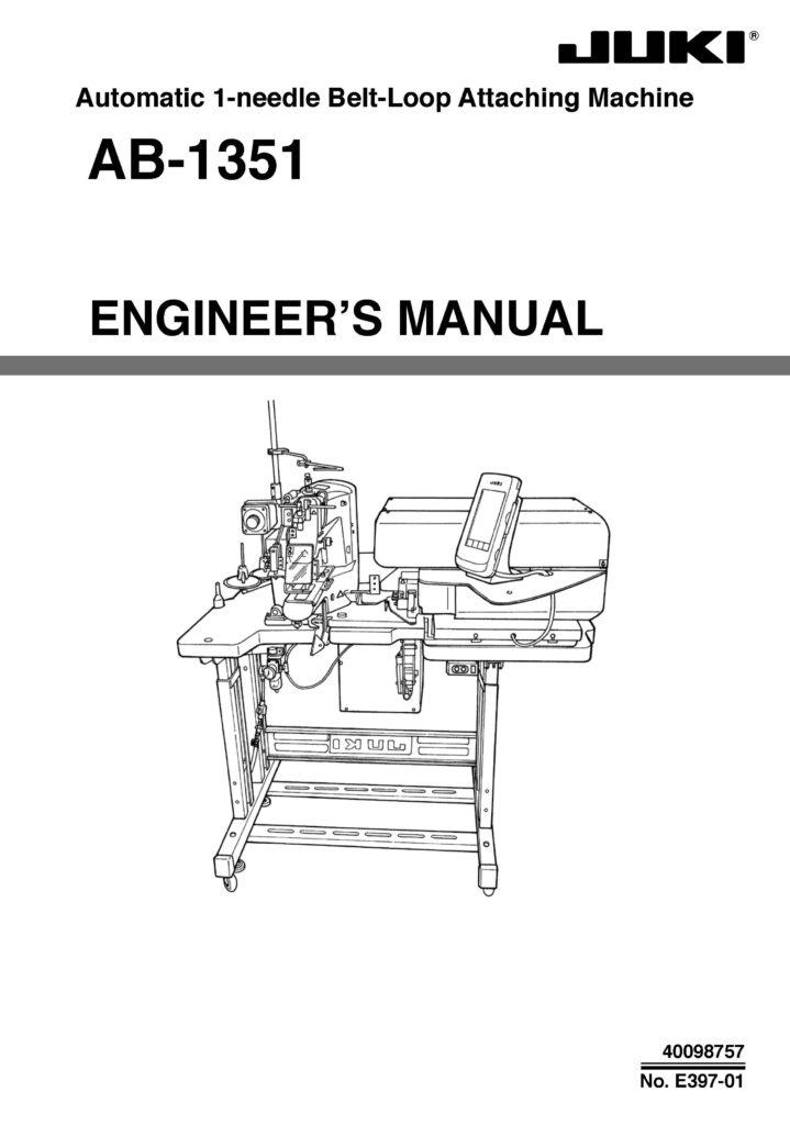 Service Manual Juki AB-1351 Sewing Machine engineer manual