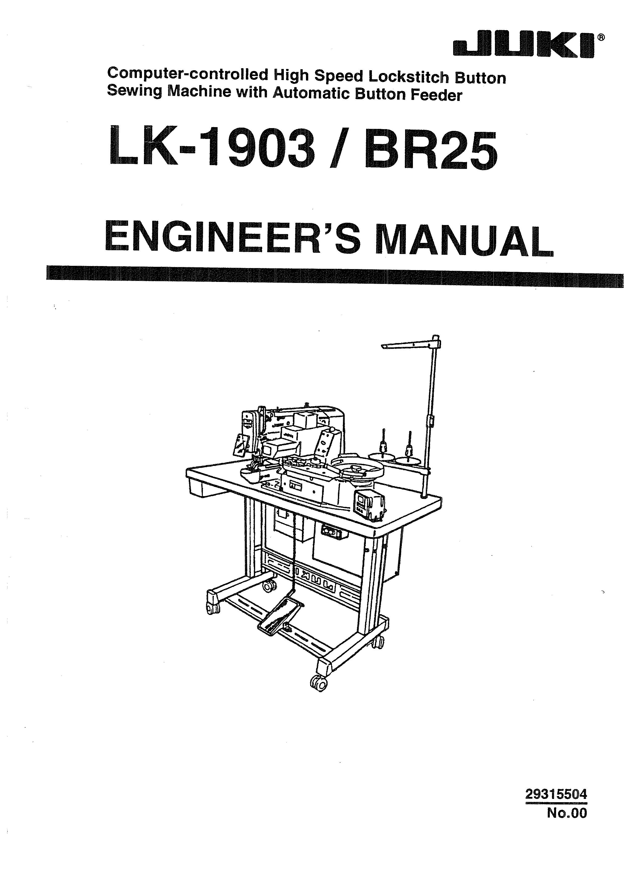 Service Manual LK-1903, BR25 Sewing Machine engineer manual