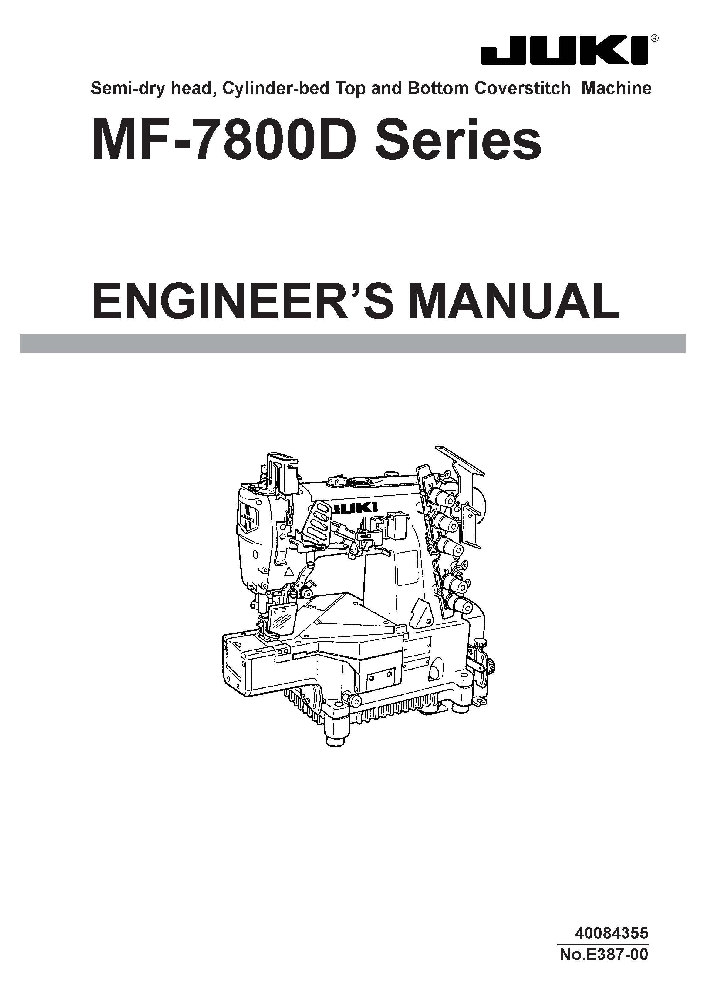 Service Manual MF-7800D Series Sewing Machine engineer manual