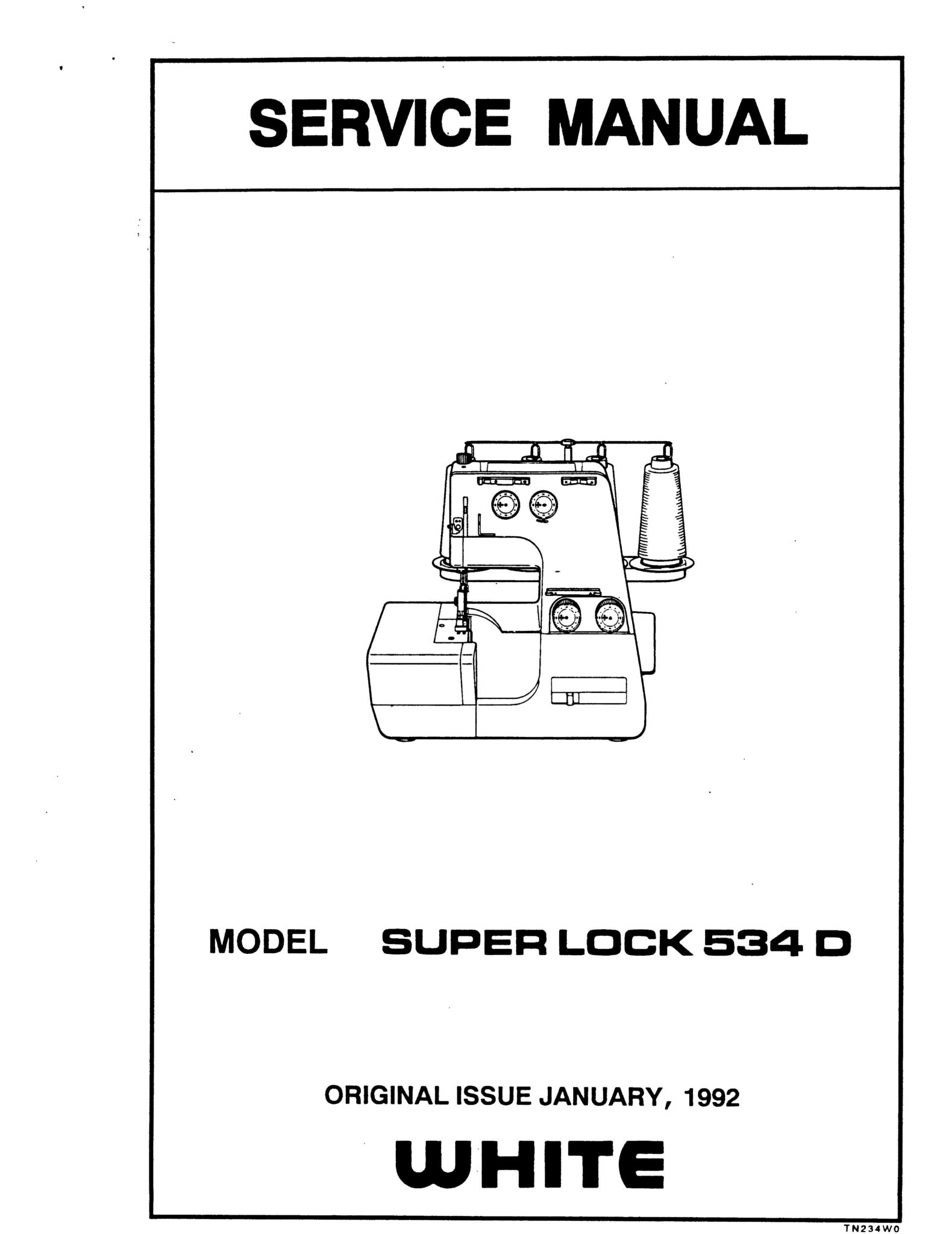 Service Manual For White Superlock 534D Serger Sewing Machine