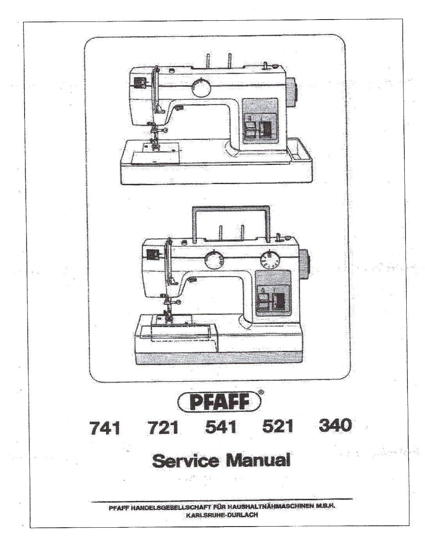 Service Manual Pfaff Hobby 4240, 4250, 4260 Sewing Machine
