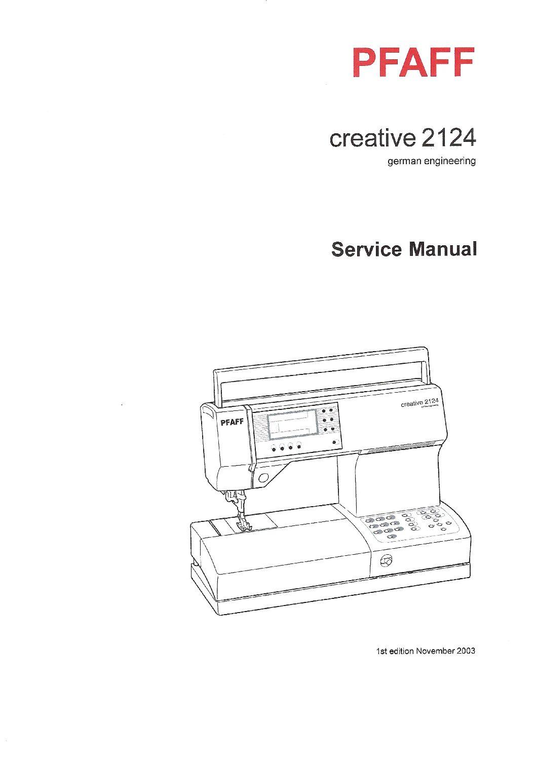 Service Manual Pfaff Creative 2124 Sewing Machine