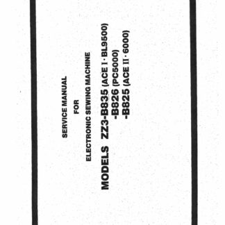 Service Manual Brother PC-5000, Super Ace I-BL9500, ACE II