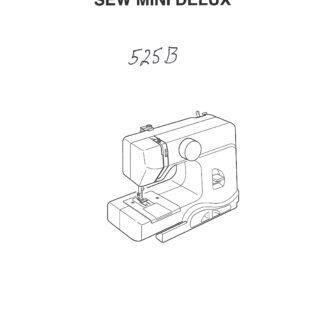 Service Manual Janome 525B Sewing Machine Service