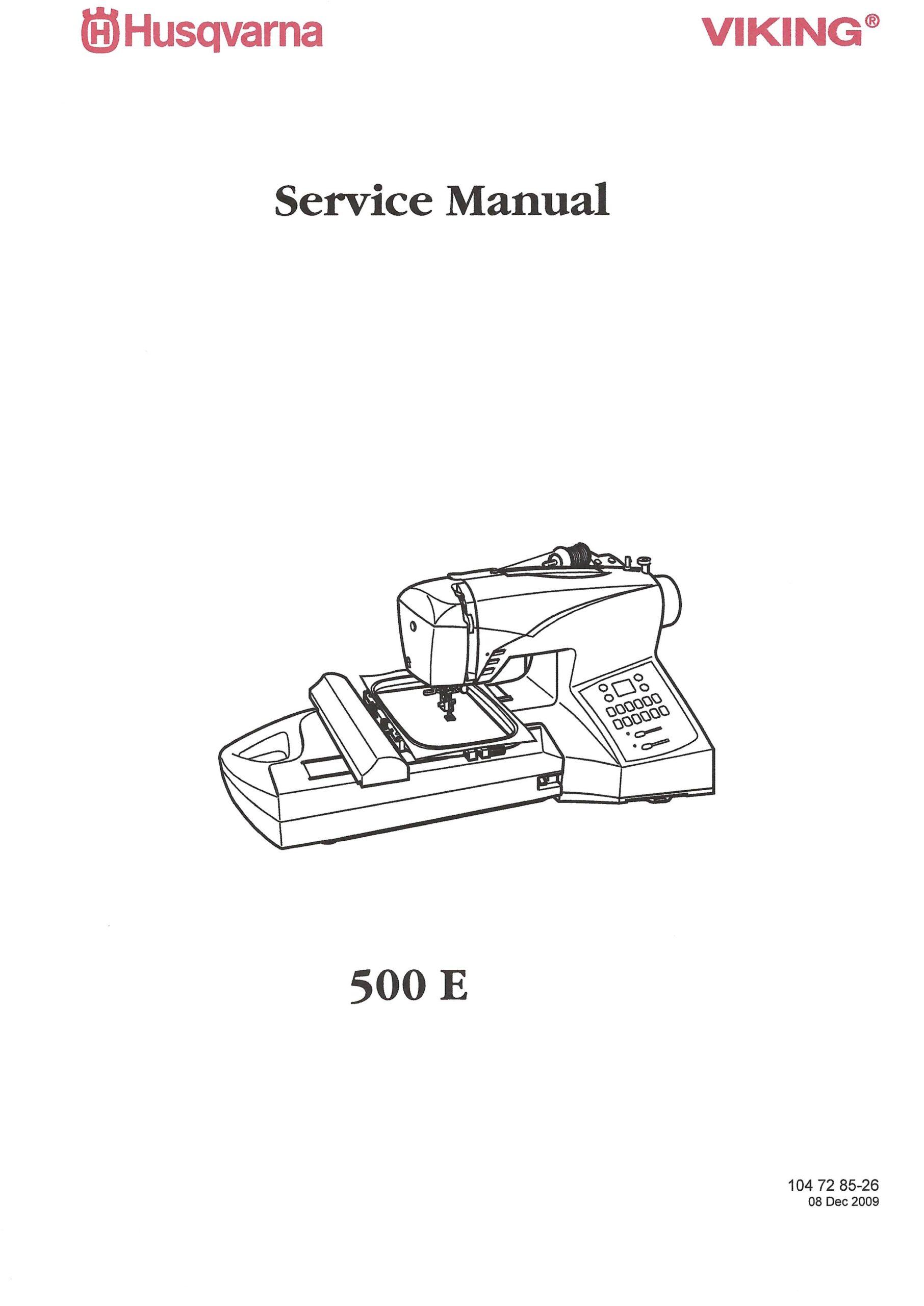 Service Manual Viking H-Class 500E Sewing Machine