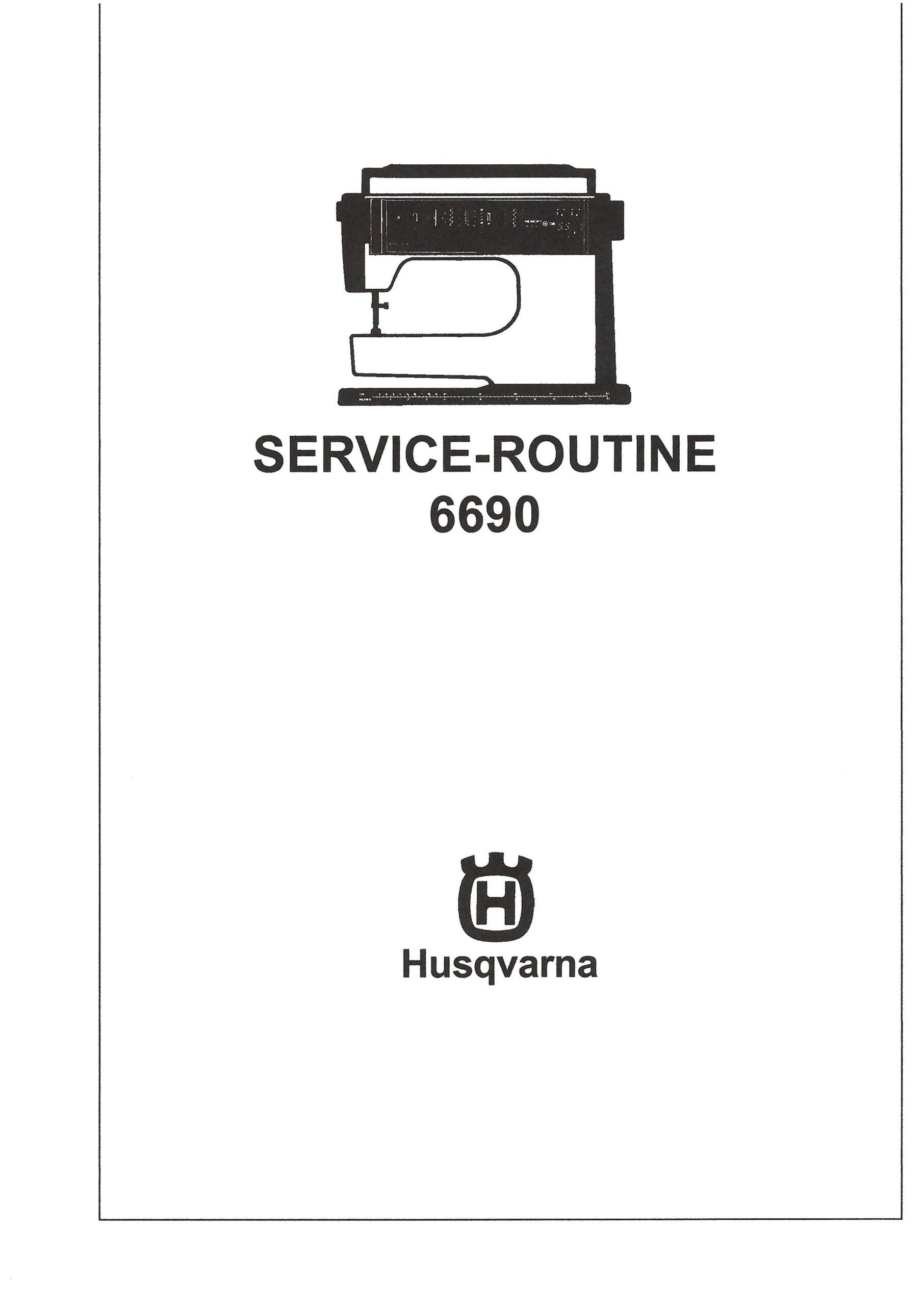 Service Manual Viking 6690, 2000-6000 Series Sewing Machine