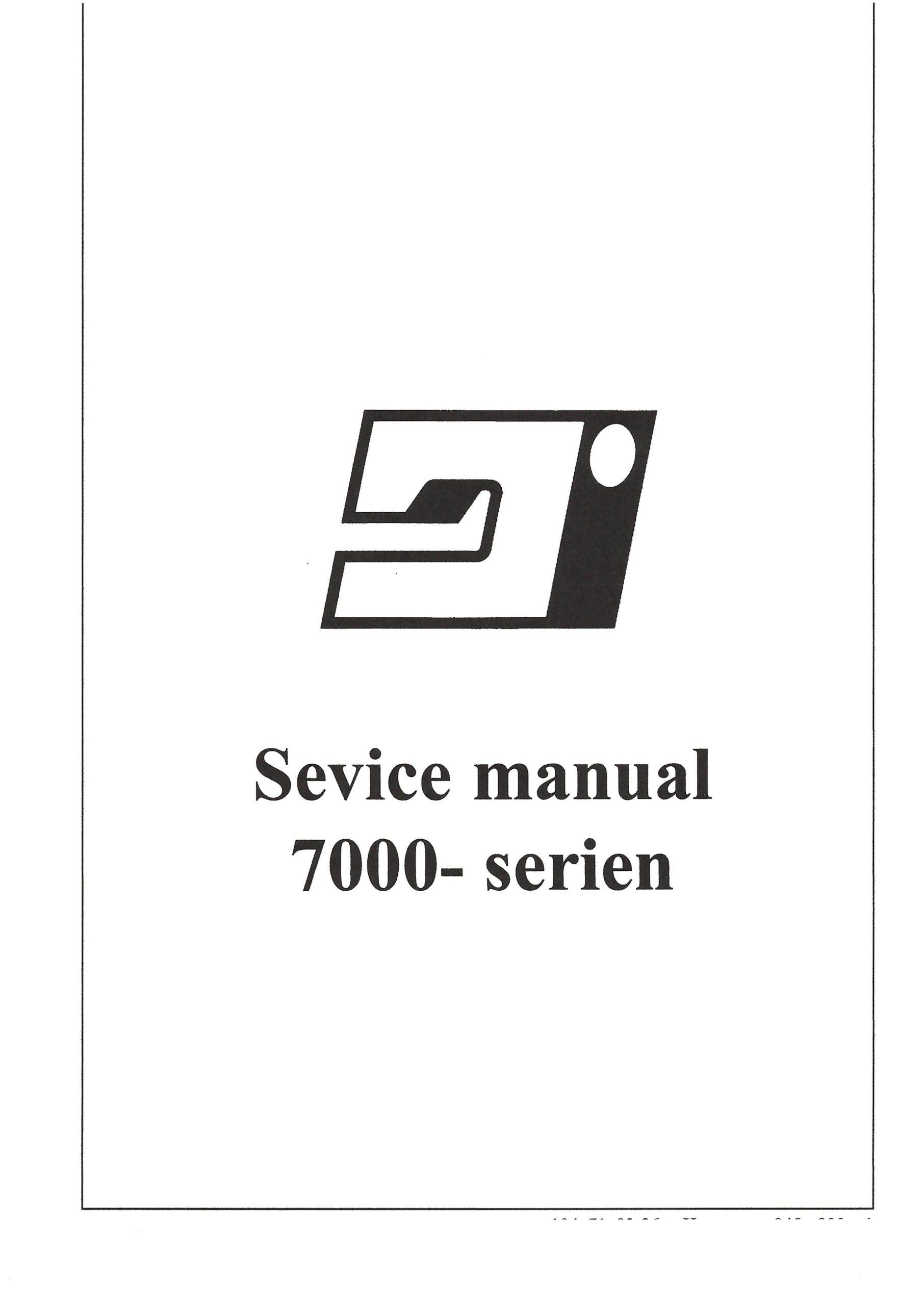 Service Manual Viking Prisma 945-990, 7000 Series Sewing