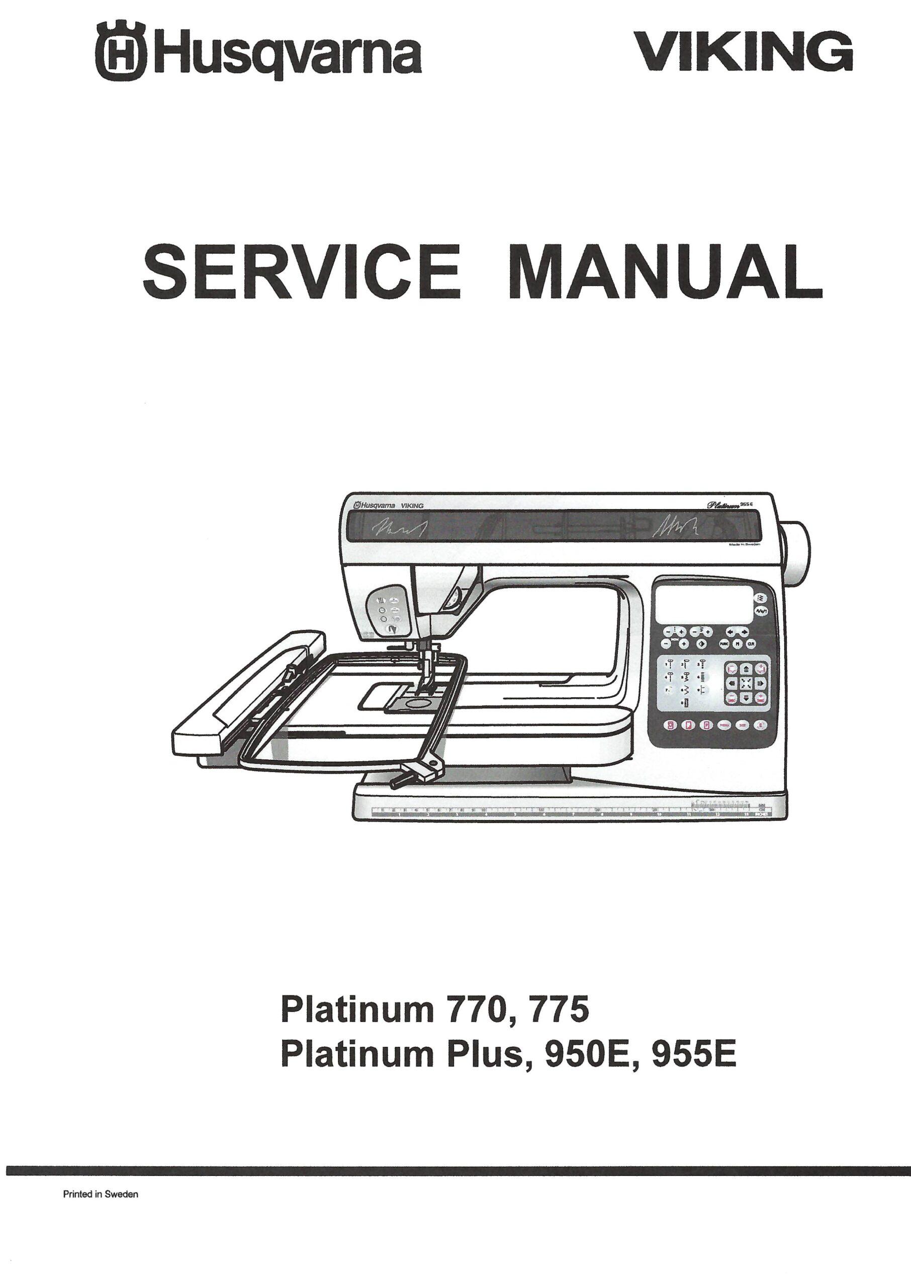 Service Manual Viking Platinum 770, 775, Plus, 950E, 955E