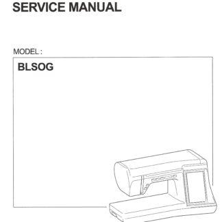 Service Manual Babylock BLSOG Ellisimo Gold Sewing Machine