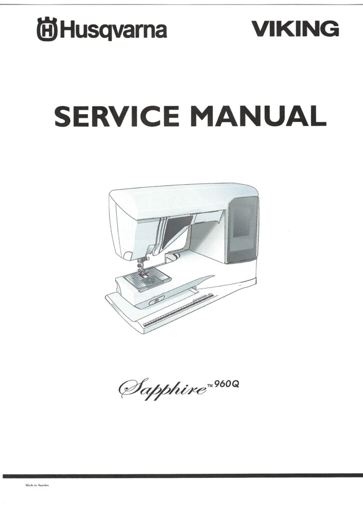 Service Manual Viking Designer Sapphire 960Q, 965Q Sewing