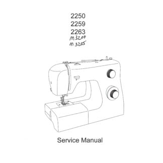 Service Manual Singer Tradition 2200 Series, M3200, M3205