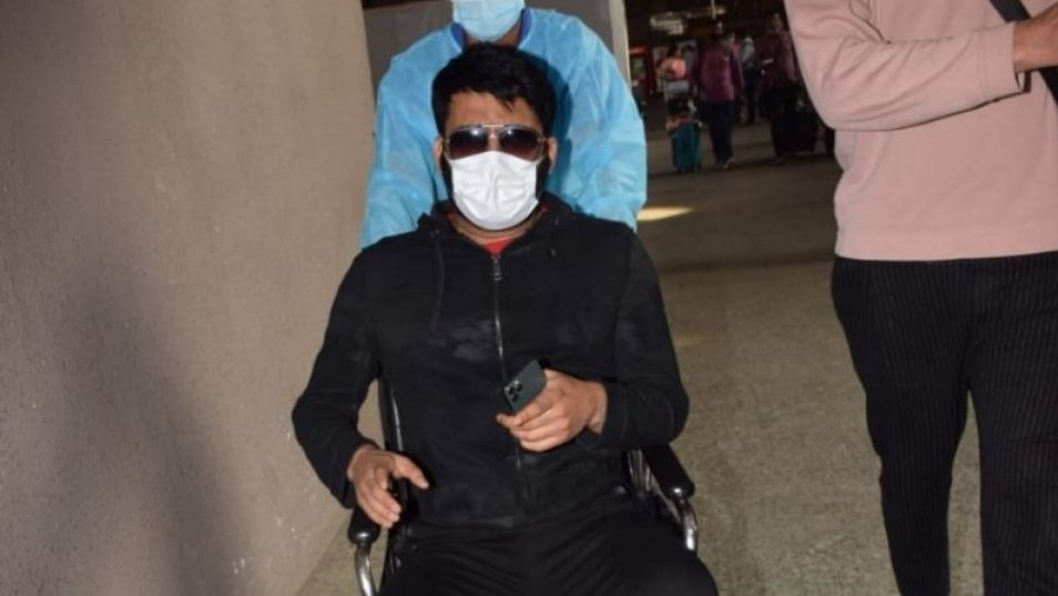 Kapil Sharma spotted on a wheelchair