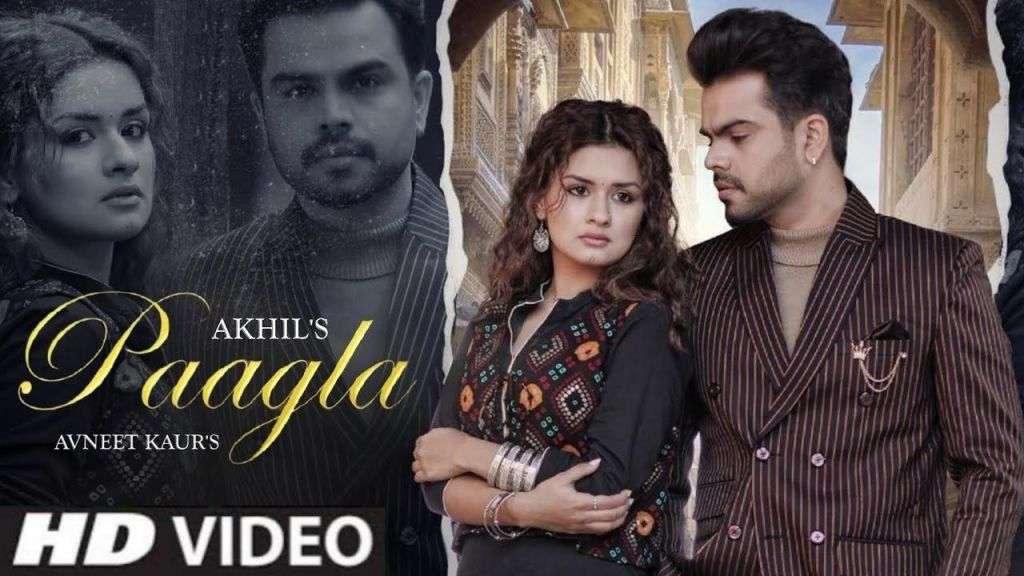 Akhil new song 'Paagla' feat.Avneet Kaur is number 1 trending on YouTube