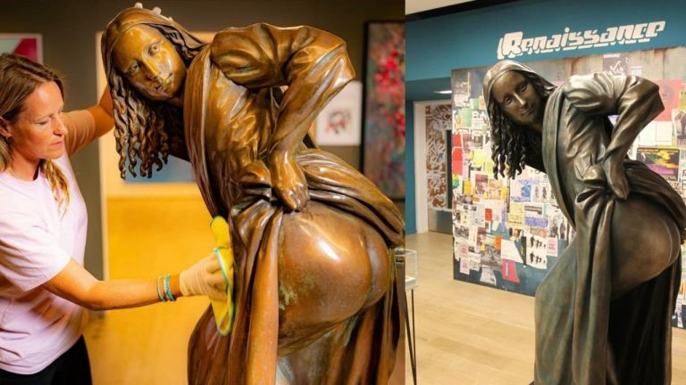 The 'Moona Lisa' you've never seen! Nick Walker's statue of Mona Lisa is now a display at Bristol Museum. Check it out here!