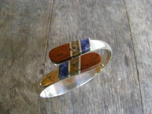 Multi-Stone Clamper Bracelet – Vintage Mexican