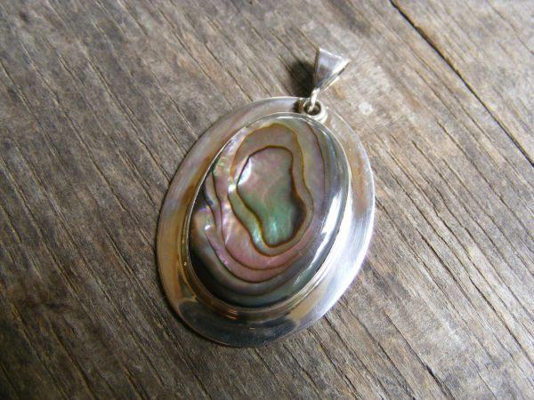 Rimmed Abalone Pendant