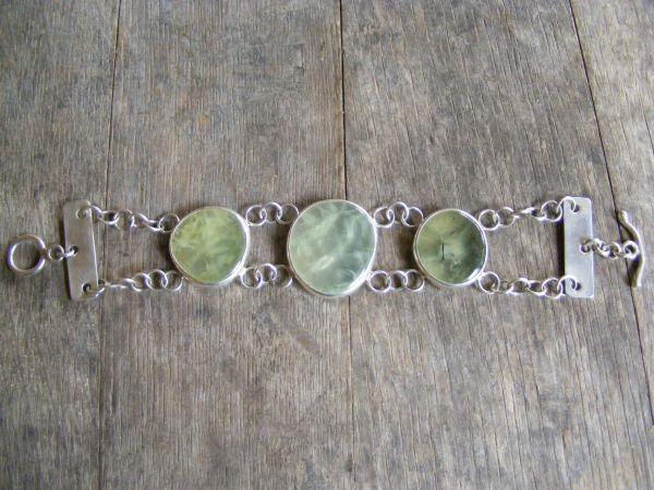Prehnite Double Link Bracelet