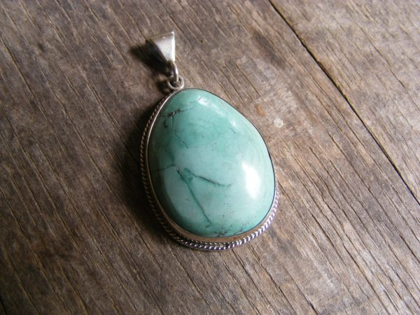Turquoise Pendant with Rope
