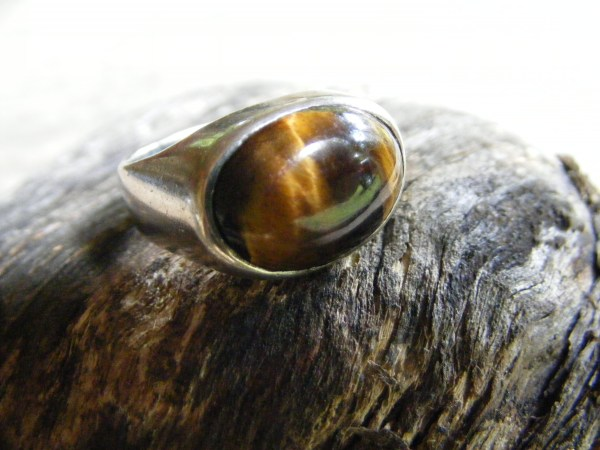 Tiger Eye Ring – Vintage Mexican