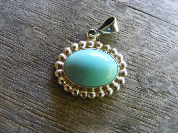 Turquoise Bead Pendant