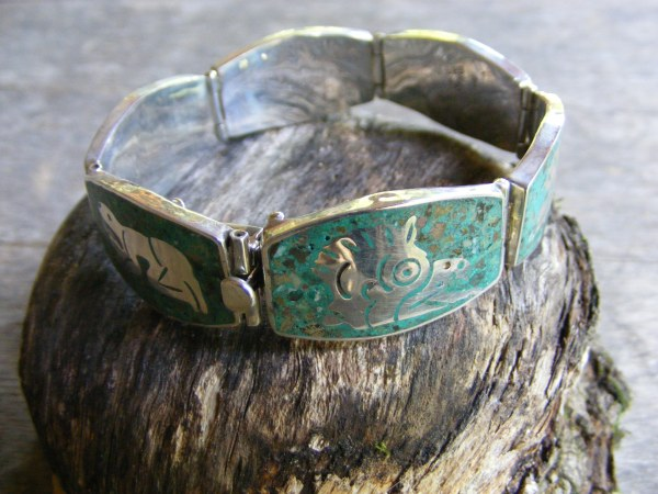 Six Panel Hinged Picture Bracelet – Vintage Mexican