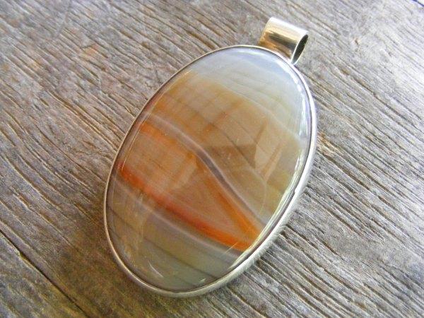 Oval Chalcedony Pendant