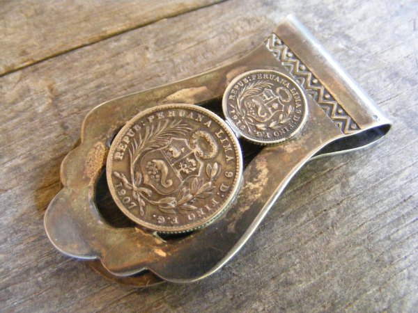 Peruvian Silver Coin Money Clip