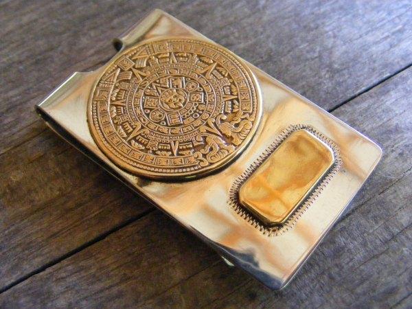 Mayan Calendar Money Clip – Vintage Mexican