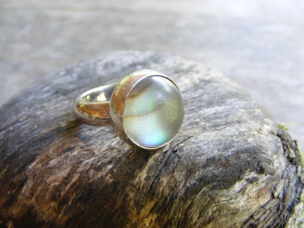 Frosted Abalone Ring