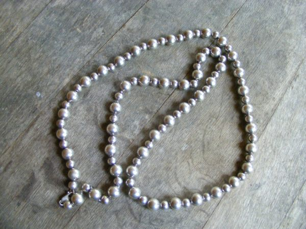 Alternating Sterling Silver Bead Necklace