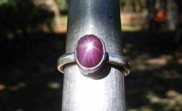 Plum Star Ruby Ring 2