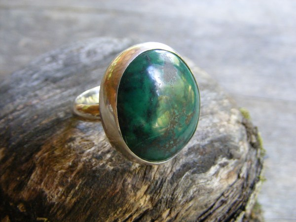 Green Turquoise Statement Ring