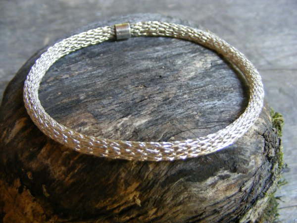 Viking Knit Bangle Bracelet