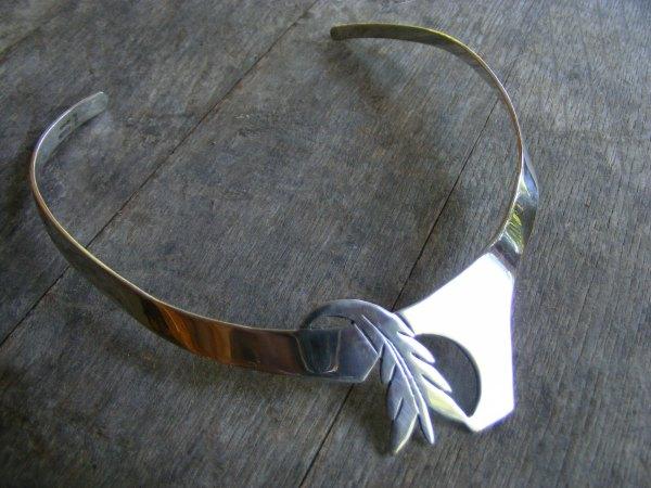 Leaf Choker Bib Necklace – Vintage Mexican