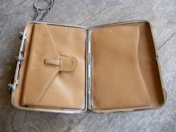 Kid Leather Sterling Silver Purse