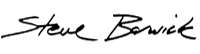 Steve Barwick Signature